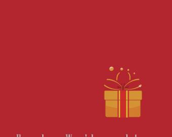 Individuelles Geschenk zu Weihnachten