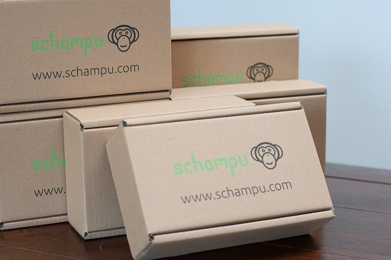 Unsere Schampu-Verpackung